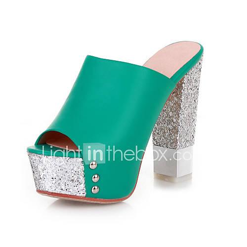 Similicuir Chunky Sandales talon / Peep Toe fête / chaussures de soirée (plus de couleurs)