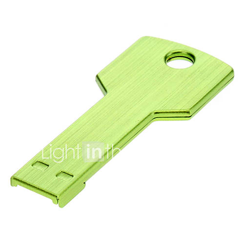 Key Shaped Metal USB Flash Drives 16G(Green)