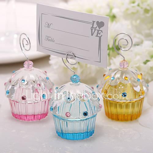 Belles titulaires de cristal gâteau Placecard (Plus de couleurs)