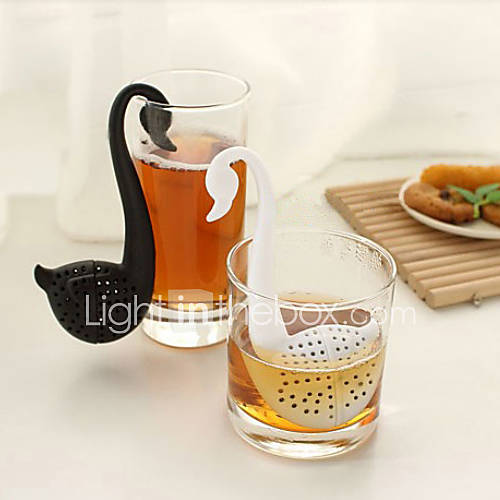 filtro en forma de té cucharadita de cisne (color al azar) Descuento en Lightinthebox
