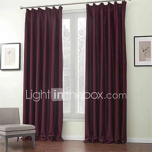 deux panneaux le traitement de fen tre moderne solide polyester mat riel rideaux occultants. Black Bedroom Furniture Sets. Home Design Ideas