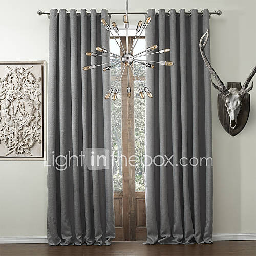 solid classic faux linen room darkening curtain 740072 2017