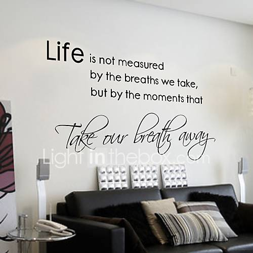 Life isn 39 t about waiting for the storm to pass wall - Stickers muraux pour salon ...