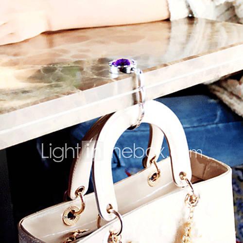 gancho colorido cristal plegable bolso bolso de la suspensión (1 pieza color al azar) Descuento en Lightinthebox