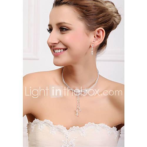 Lega unico con cristallo Set gioielli da sposa tra cui collane ...