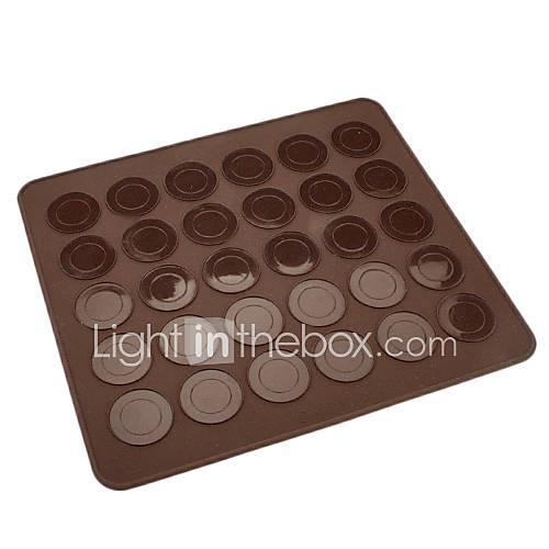 30 agujeros de silicona cookies de macarrón estera cm-83 Descuento en Lightinthebox
