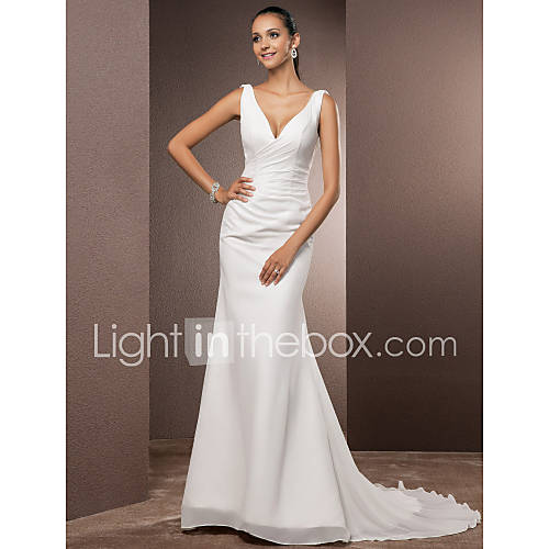 Lanting Bride Trompeta / Sirena Tallas pequeñas / Tallas Grandes Vestido de Boda - Clásico y AtemporalEspalda Abierta / Simplemente Descuento en Lightinthebox