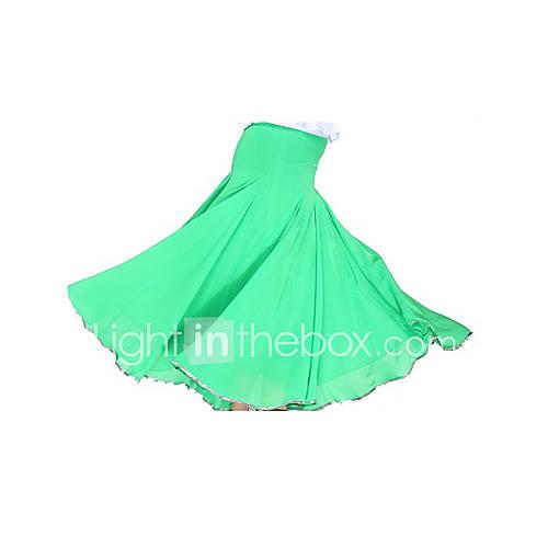 Faldas(Fucsia / Verde / Azul Rey,Gasa / Satinado,Danza Moderna / Sala de Baile) -Danza Moderna / Sala de Baile- paraMujer Entrenamiento Descuento en Lightinthebox
