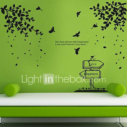 Birds and Trees in Spring Wall Stickers (1985P27) 221385
