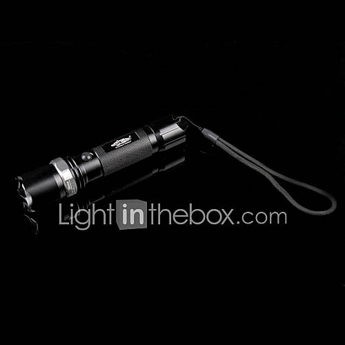 wolffire 3 modes Cree XR-E Q5 LED Flashlight (noir)