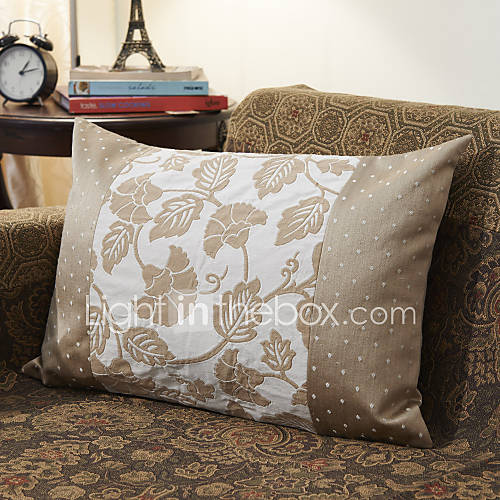 Jacquard Decorative Pillows : Country Leaves Cotton Jacquard Decorative Pillow Cover 364732 2016 ? $11.69