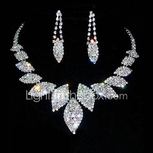 Conjunto de joyas De mujeres Aniversario / Cumpleaños Sets de Joya Aleación / Diamantes Sintéticos Diamantes SintéticosCollares / Descuento en Lightinthebox