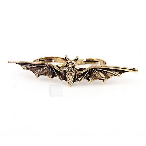Anneau d'alliage de mode Bat forme féminine