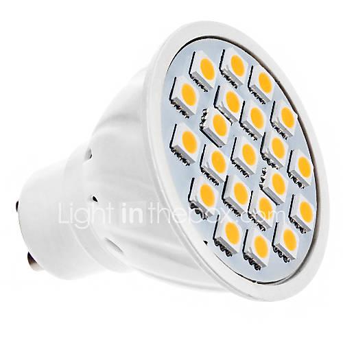1.5W GU10 LED Spotlight MR16 20 SMD 5050 190 lm Warm White AC 220-240 V