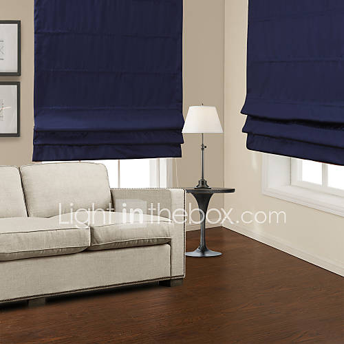 Traditional Dark Blue Blackout Roman Shade 834596 2016