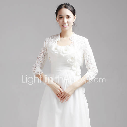 Wedding Wraps Coats/Jackets Half-Sleeve Lace As Picture