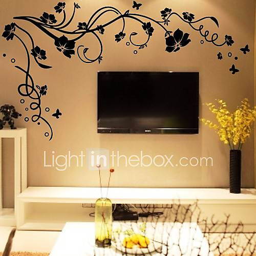 Botanical Wall Stickers Plane Wall Stickers Decorative Wall Stickers Vinyl Home Decoration Wall Decal Wall
