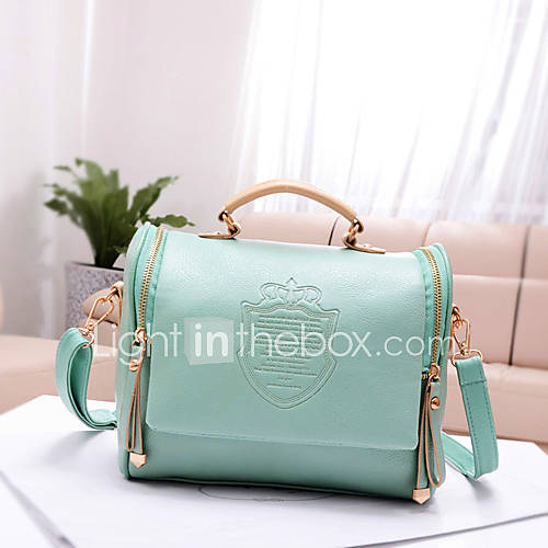 Fashion Cute Bow Belt Shoulder Bag Fashion Crown Pattern Print