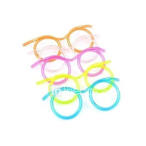 Glasses Design Straw(Random Color)