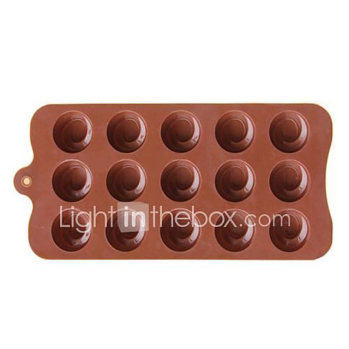 round chocolate moldes de silicona para hornear 771274