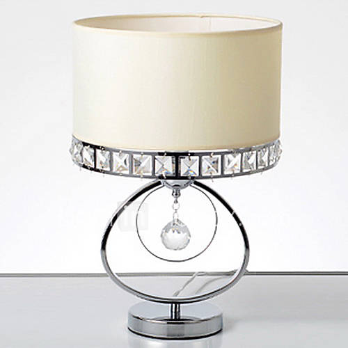 wrought iron table lamp k9 crystal crown shade 762330 2017. Black Bedroom Furniture Sets. Home Design Ideas