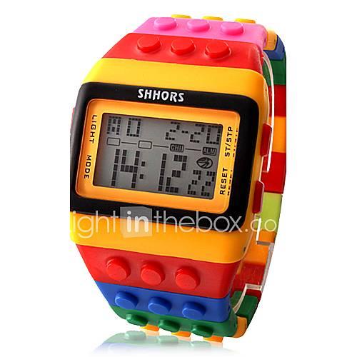 Hombre / Mujer / Unisex Reloj de Moda Digital LCD / Calendario / Cronógrafo / alarma Plastic Banda Caramelo / Cool Múltiples Colores Marca Descuento en Lightinthebox