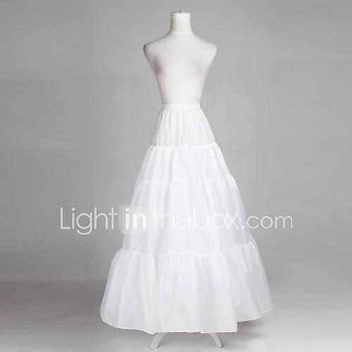 Polyester full bridal gown full length wedding slip style for Full length slip for wedding dress