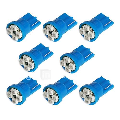 Light in the box ES 8x T10 194 168 501 4-SMD 3528 LED bombilla del coche azul