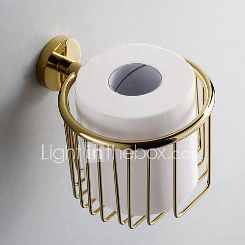 gold bathroom accessories brass toilet paper holder 761554