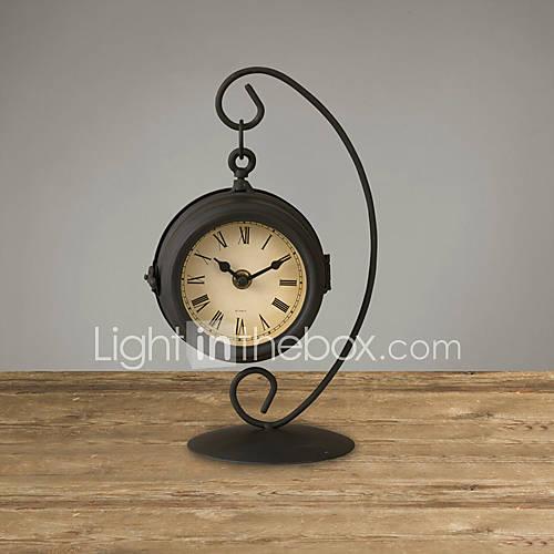 11 h r tro m tal double cadran d 39 horloge de table de 740535 2016 - Horloge double cadran ...