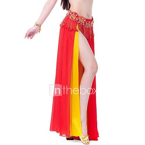 Faldas(Verde manzana / Morado / Rojo,Gasa,Danza del Vientre / Sala de Baile) -Danza del Vientre / Sala de Baile- paraMujerFrente dividida Descuento en Lightinthebox
