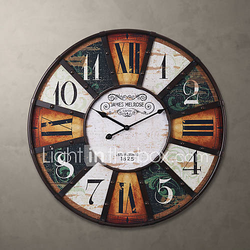 H24 country style metal square wall clock 789710 2017 - Country style wall clocks ...