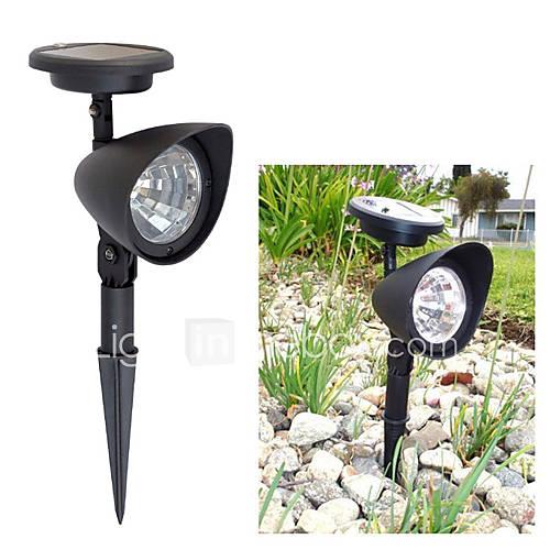 light solar lawn light solar spot light 3 bright led bulbs for garden. Black Bedroom Furniture Sets. Home Design Ideas