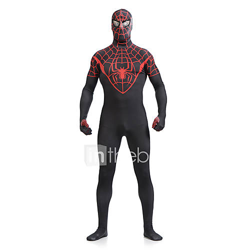 Zentai Suits / Cosplay Costumes Super Heroes / Spider / Movie/TV Theme Costumes Lycra Print / Patchwork Red / Black Unisex Leotard/Onesie