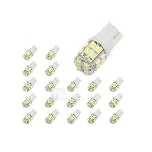 Light in the box ES 10 x T10 20 SMD 1210 LED del coche blanco Luces de bulbo 194 168 2825 W5W