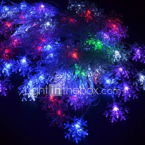 outdoor christmas holiday decoration flower rgb light led string light