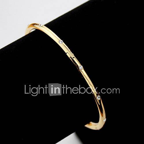 u7 plaqué bracelets manchettes elegent swa autrichienne strass or 18k bracelets cadeau de bijoux pour les femmes