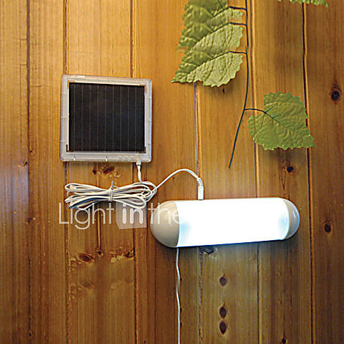5-LED Indoor Outdoor White Light LED Solar Powered Panel