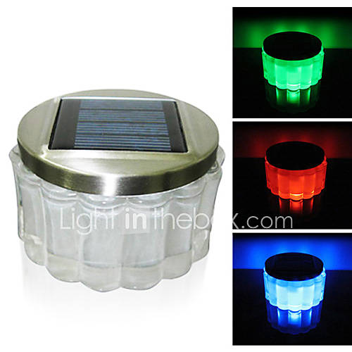 crystal rgb color changing led solar powered garden light solar table light solar small night. Black Bedroom Furniture Sets. Home Design Ideas