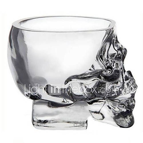 Mini calavera de cristal taza cabeza vodka vidrio tiro mercancías de la bebida de whisky para la barra casera Descuento en Lightinthebox