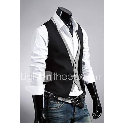 d bardeurs pour des hommes ray couleur plaine d contract sans manches coton noir marron de. Black Bedroom Furniture Sets. Home Design Ideas
