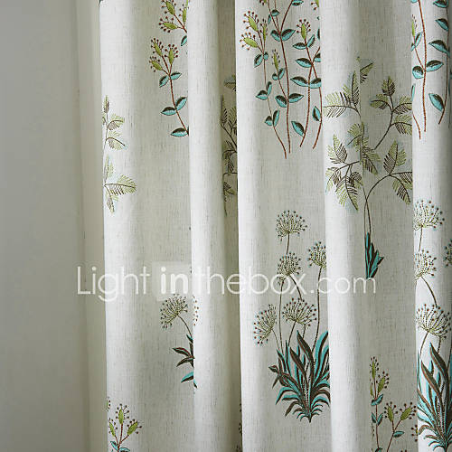 Two Panels Michelle Luxury® Country Botanical Grass Print