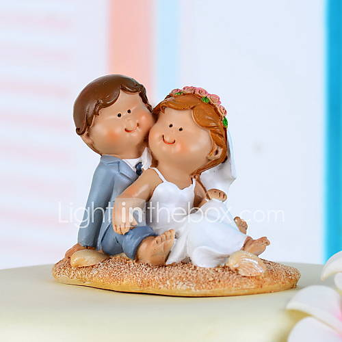 Sweet Love Bride & Groom Wedding Cake Topper