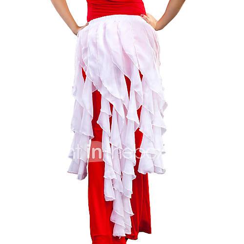 Pañuelos de Cadera para Danza del Vientre(Blanco,Gasa,Danza del Vientre) -Danza del Vientre- paraMujer Arrugas EntrenamientoPrimavera, Lightinthebox