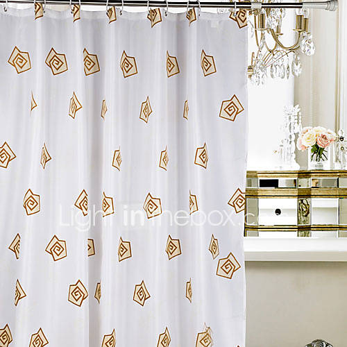 Shower Curtain Polyester Yellow Roses Water Resistant Thick Fabric 2 Sizes Available 889182 2017