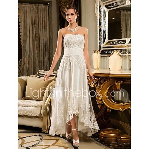 Lanting Bride Corte en A Tallas pequeñas / Tallas Grandes Vestido de Boda - Moderno y Chic / Vestidos de RecepciónInspiración Vintage / Descuento en Lightinthebox
