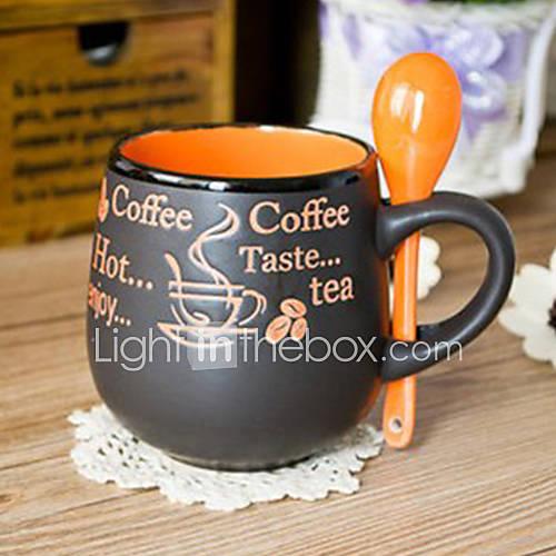 Ceramic Cups And Creative Matt Black Coffee Mug Cup Of Tea