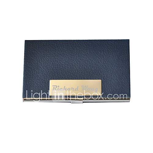 Personalized PU Leather Formal Style Engraved Business