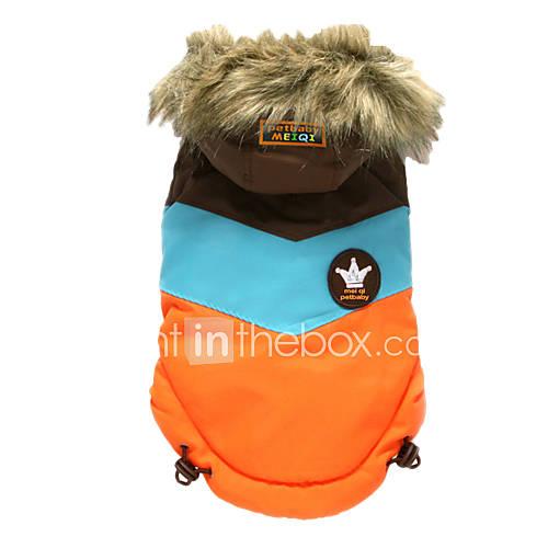 cachorro-casacos-camisola-com-capuz-roupas-para-caes-mantenha-quente-esportes-color-block-laranja-rosa-claro-ocasioes-especiais-para