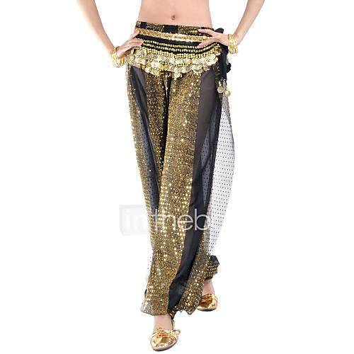 Pantalones y Faldas(Negro / Azul Rey,Gasa,Danza del Vientre) -Danza del Vientre- paraMujer Lentejuelas Representación Lightinthebox